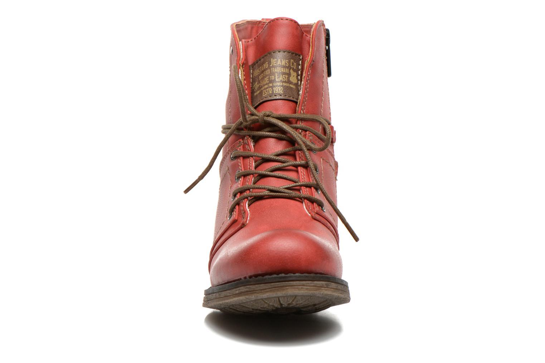 Boots en enkellaarsjes Mustang shoes Irina Rood model