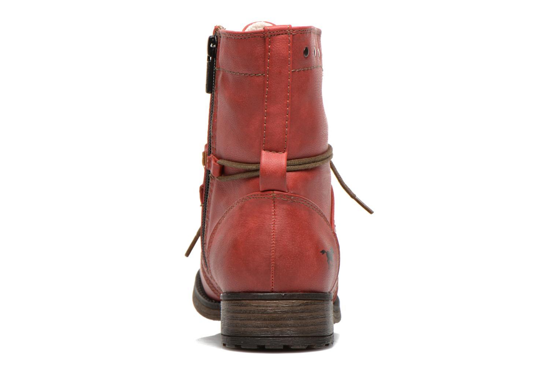 Boots en enkellaarsjes Mustang shoes Irina Rood rechts