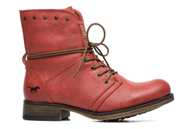 Boots en enkellaarsjes Mustang shoes Irina Rood achterkant