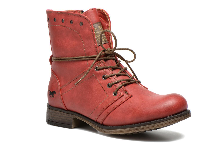 Boots en enkellaarsjes Mustang shoes Irina Rood detail