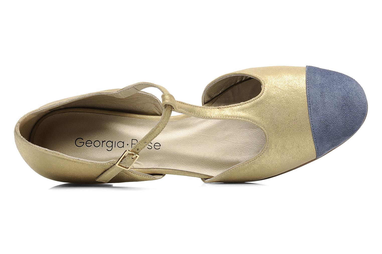 Sandales et nu-pieds Georgia Rose Jessey CFT Or et bronze vue gauche