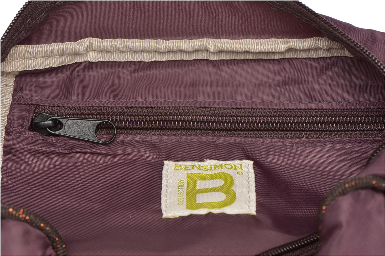 Handtassen Bensimon Small Besace Paars achterkant