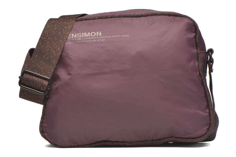 Handtassen Bensimon Small Besace Paars detail