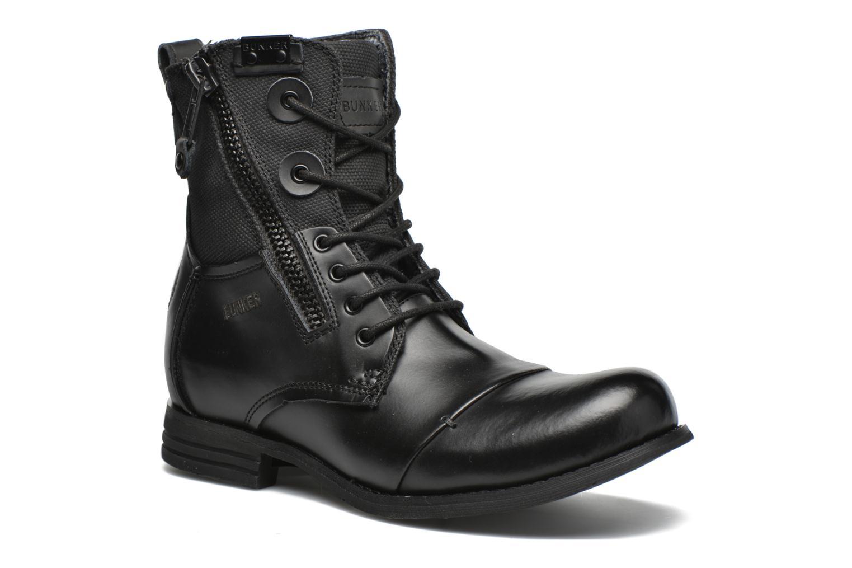 Boots en enkellaarsjes Bunker Tara por Zwart detail