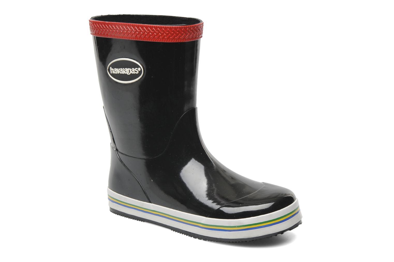 Aqua Kids Rain Boots Black Red