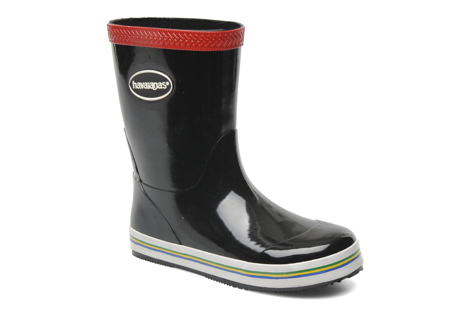Aqua Kids Rain Boots Black Red