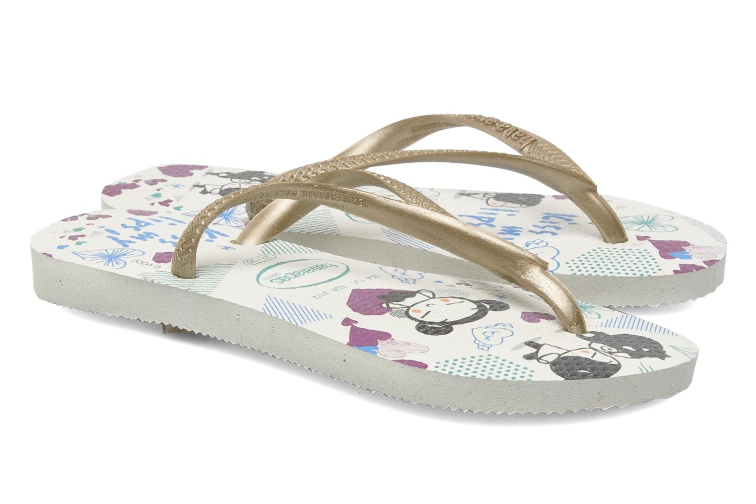 Slippers Havaianas Kids Slim Pucca Wit 3/4'