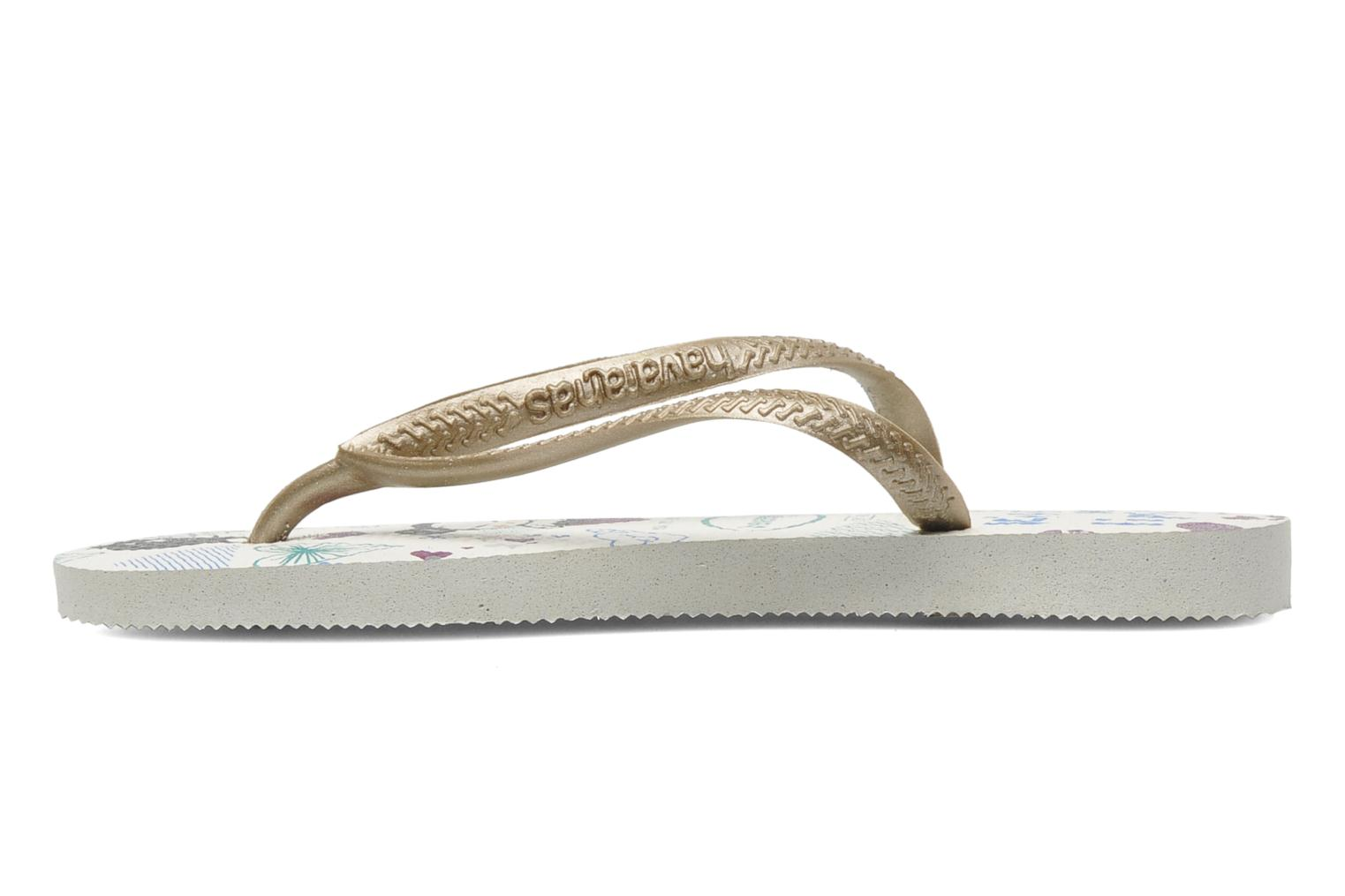 Tongs Havaianas Kids Slim Pucca Blanc vue face