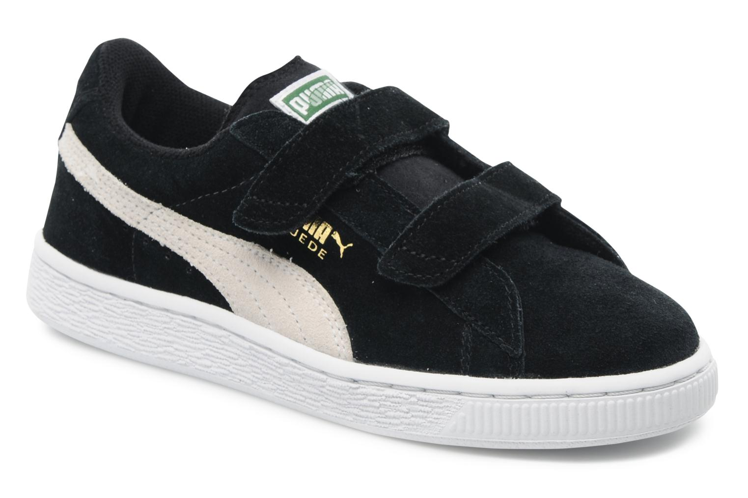 Suede 2 Straps Kids. black-limoges-team gold