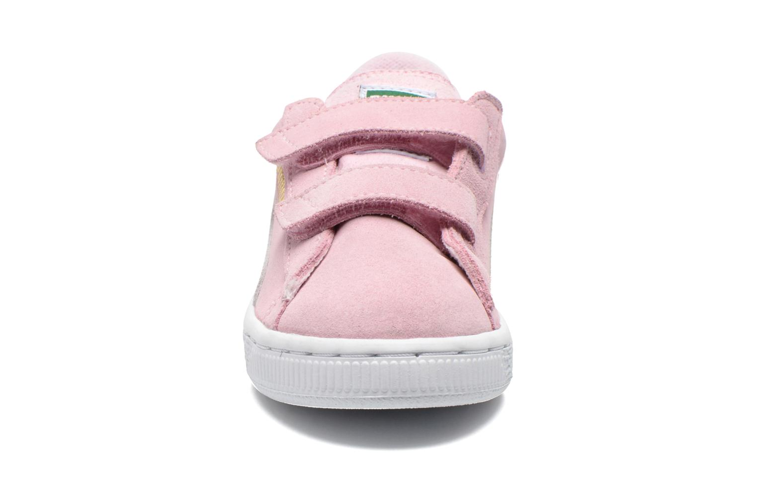 Trainers Puma Suede 2 Straps Kids. Pink model view