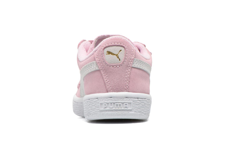 Sneaker Puma Suede 2 Straps Kids. rosa ansicht von rechts