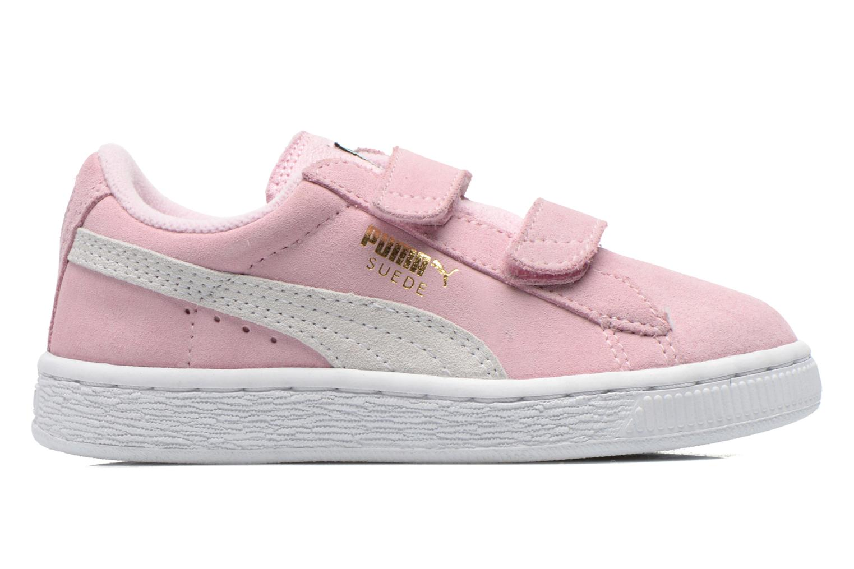 Sneakers Puma Suede 2 Straps Kids. Roze achterkant