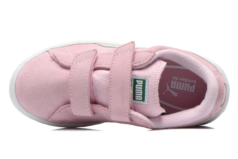 Sneaker Puma Suede 2 Straps Kids. rosa ansicht von links