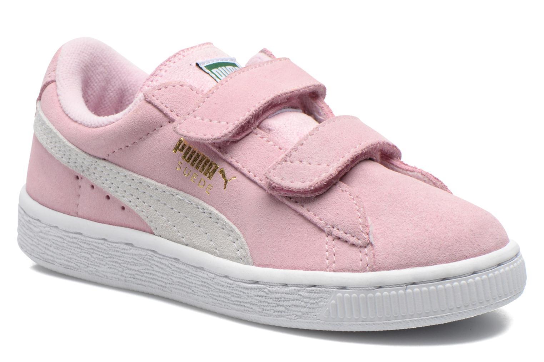 Sneakers Puma Suede 2 Straps Kids. Roze detail