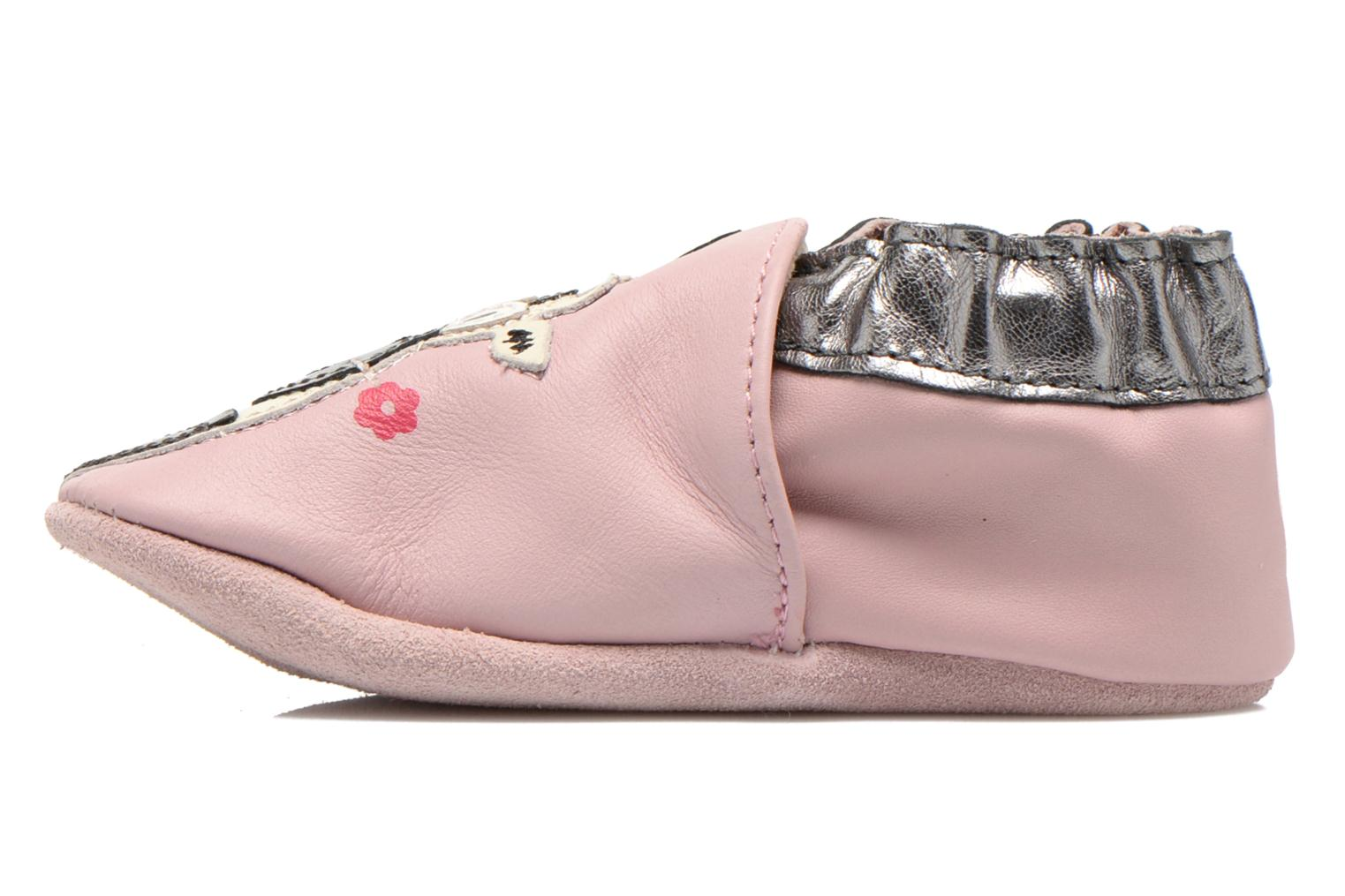 Chaussons Robeez Daisy Rose vue face