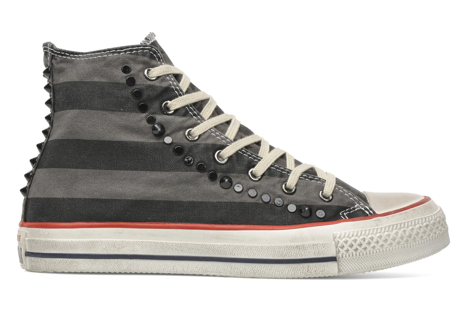Baskets Converse Chuck Taylor All Star Well Worn Studs Canvas Hi W Gris vue derrière