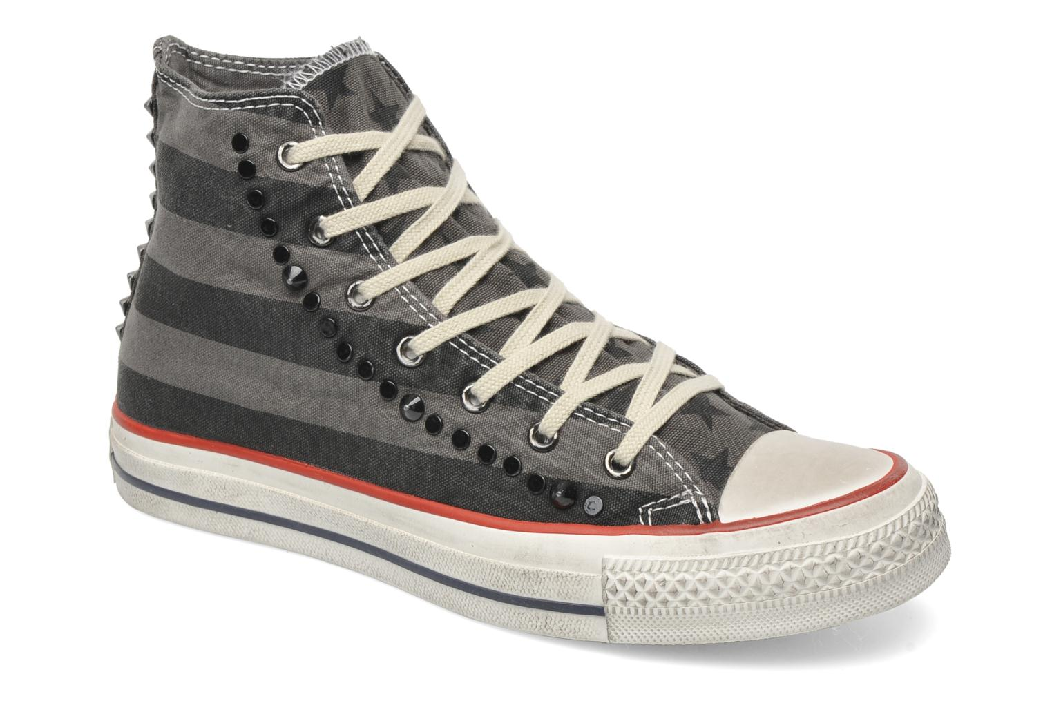 Baskets Converse Chuck Taylor All Star Well Worn Studs Canvas Hi W Gris vue détail/paire