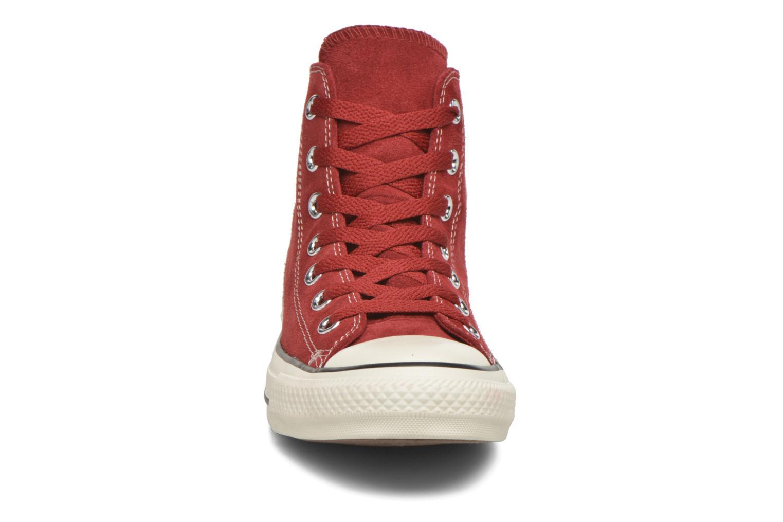 Sneaker Converse Chuck Taylor All Star Suede Hi W weinrot schuhe getragen