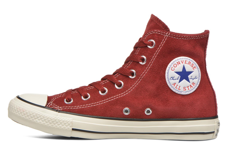 Sneaker Converse Chuck Taylor All Star Suede Hi W weinrot ansicht von vorne