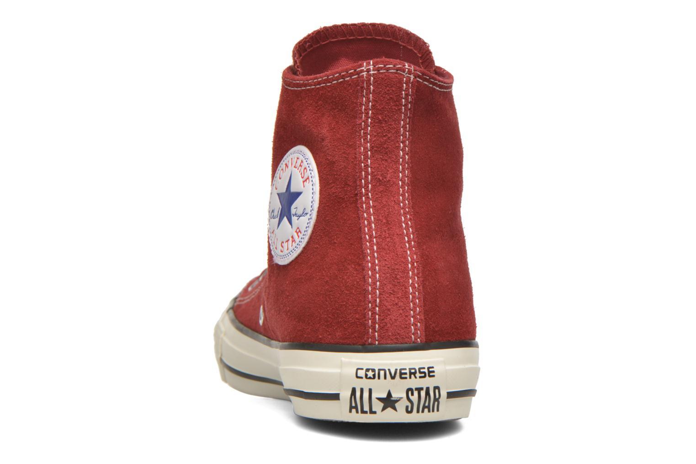 Sneaker Converse Chuck Taylor All Star Suede Hi W weinrot ansicht von rechts
