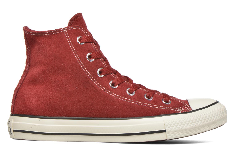 Sneaker Converse Chuck Taylor All Star Suede Hi W weinrot ansicht von hinten
