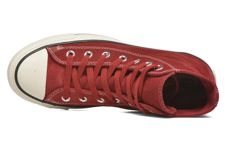 Sneaker Converse Chuck Taylor All Star Suede Hi W weinrot ansicht von links