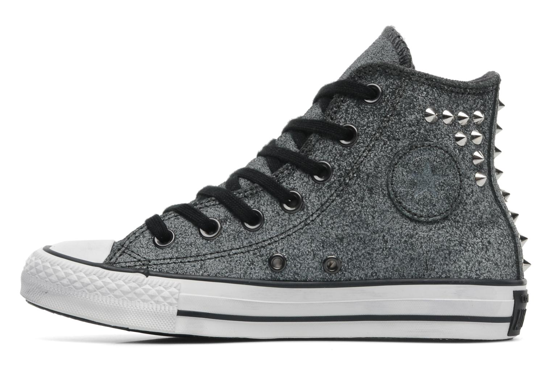 Sneakers Converse Chuck Taylor All Star Collar Stud Suede Hi W Grijs voorkant