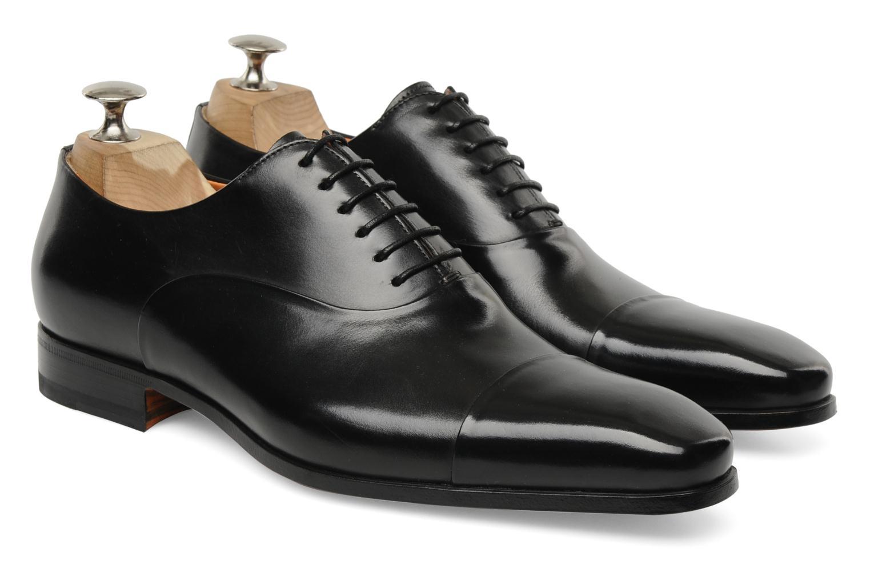 Lace-up shoes Santoni Boris 11643 Black 3/4 view