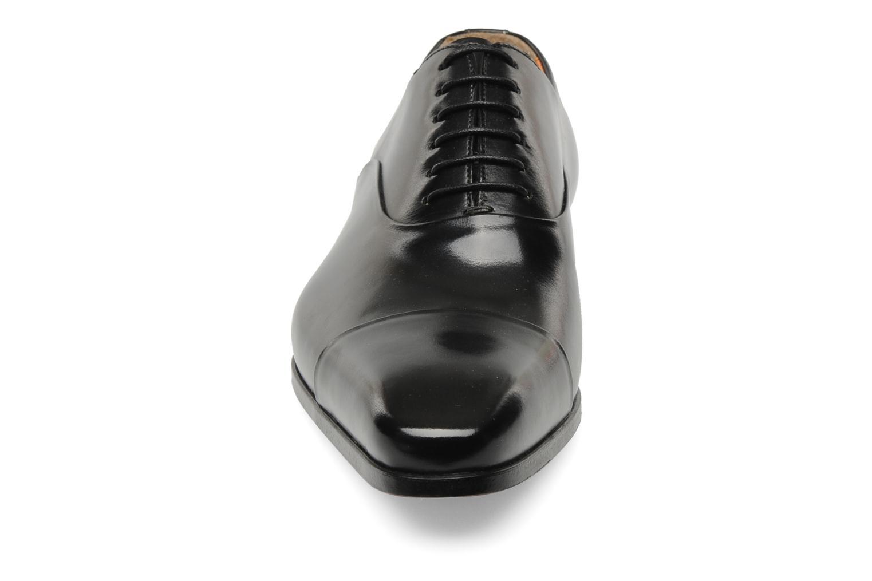 Schnürschuhe Santoni Boris 11643 schwarz schuhe getragen
