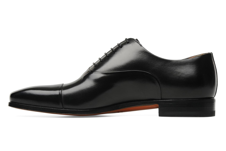 Lace-up shoes Santoni Boris 11643 Black front view