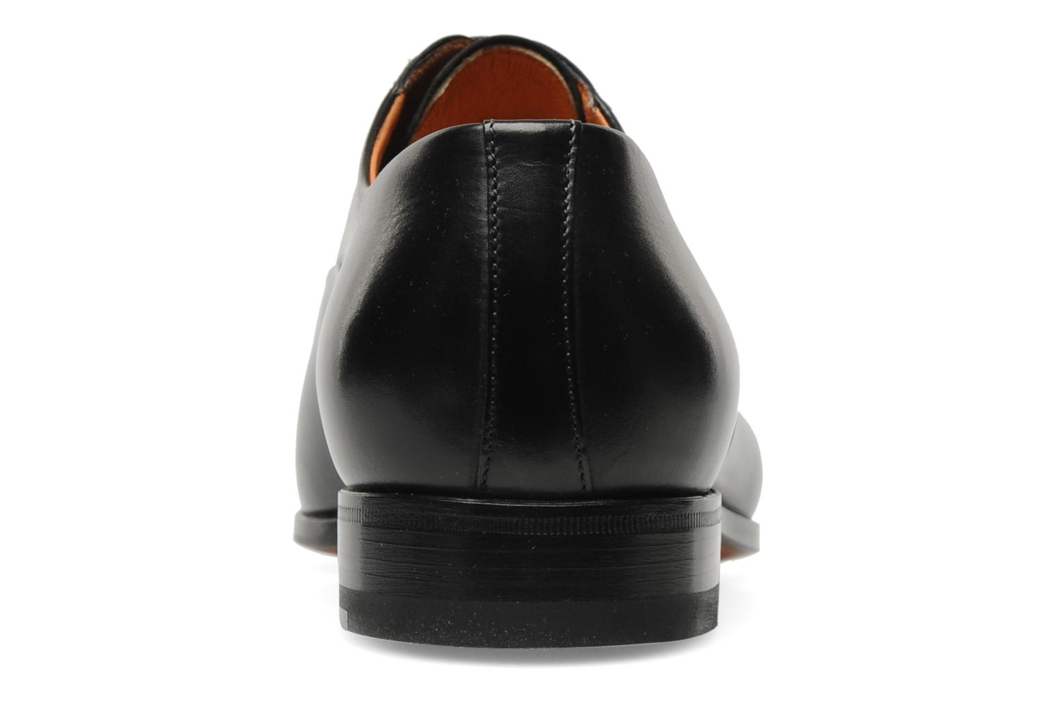 Lace-up shoes Santoni Boris 11643 Black view from the right