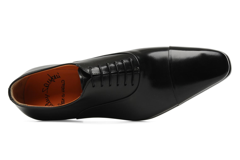 Lace-up shoes Santoni Boris 11643 Black view from the left