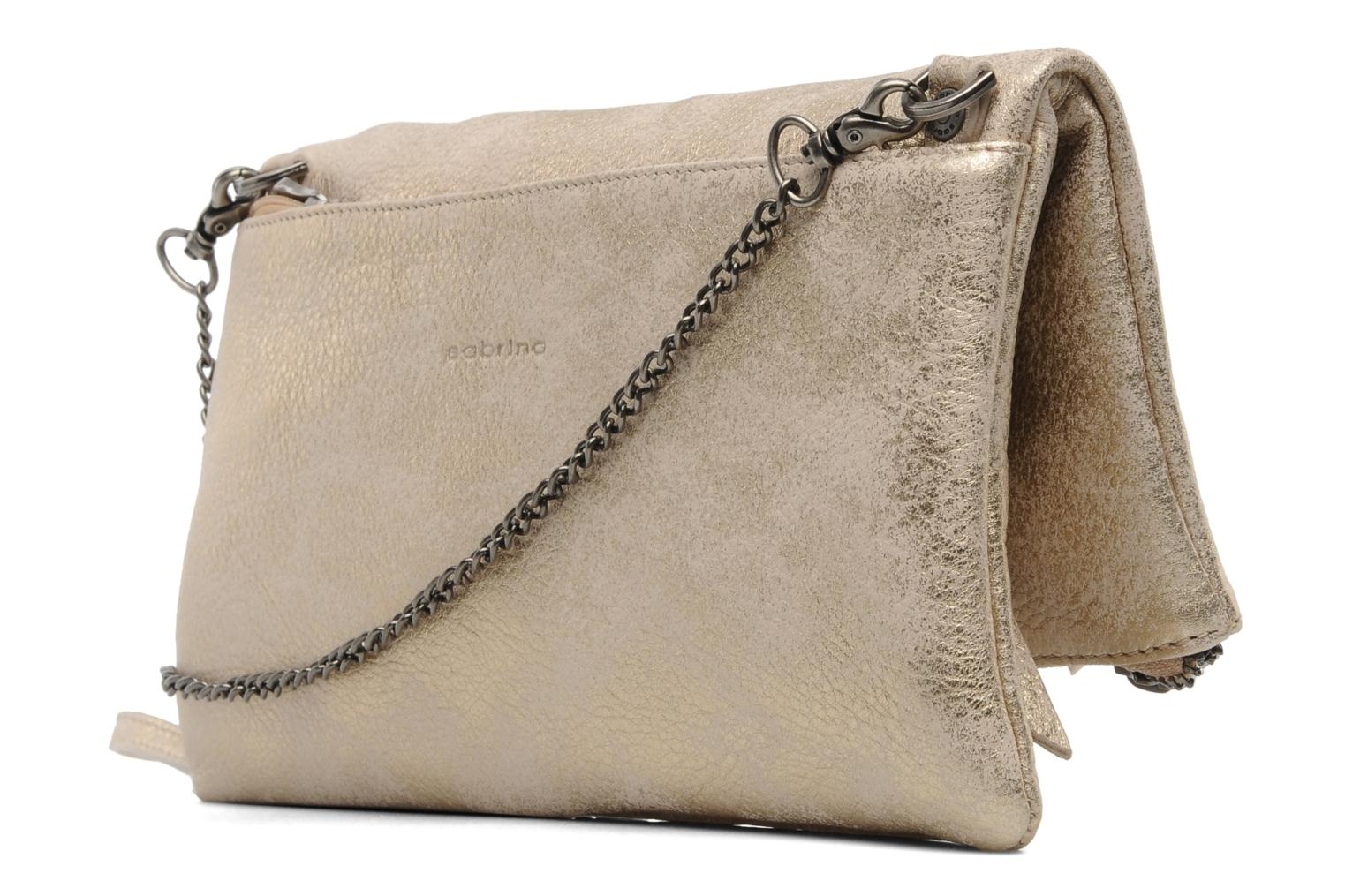 Handbags Sabrina Léonie Bronze and Gold view from the right