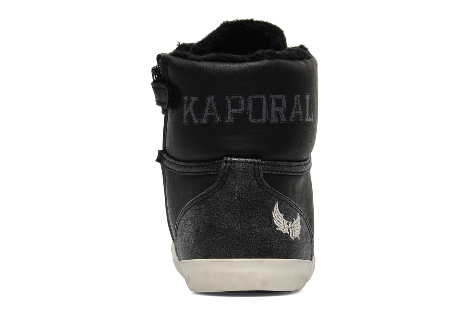 Trainers Kaporal Stello Black view from the right