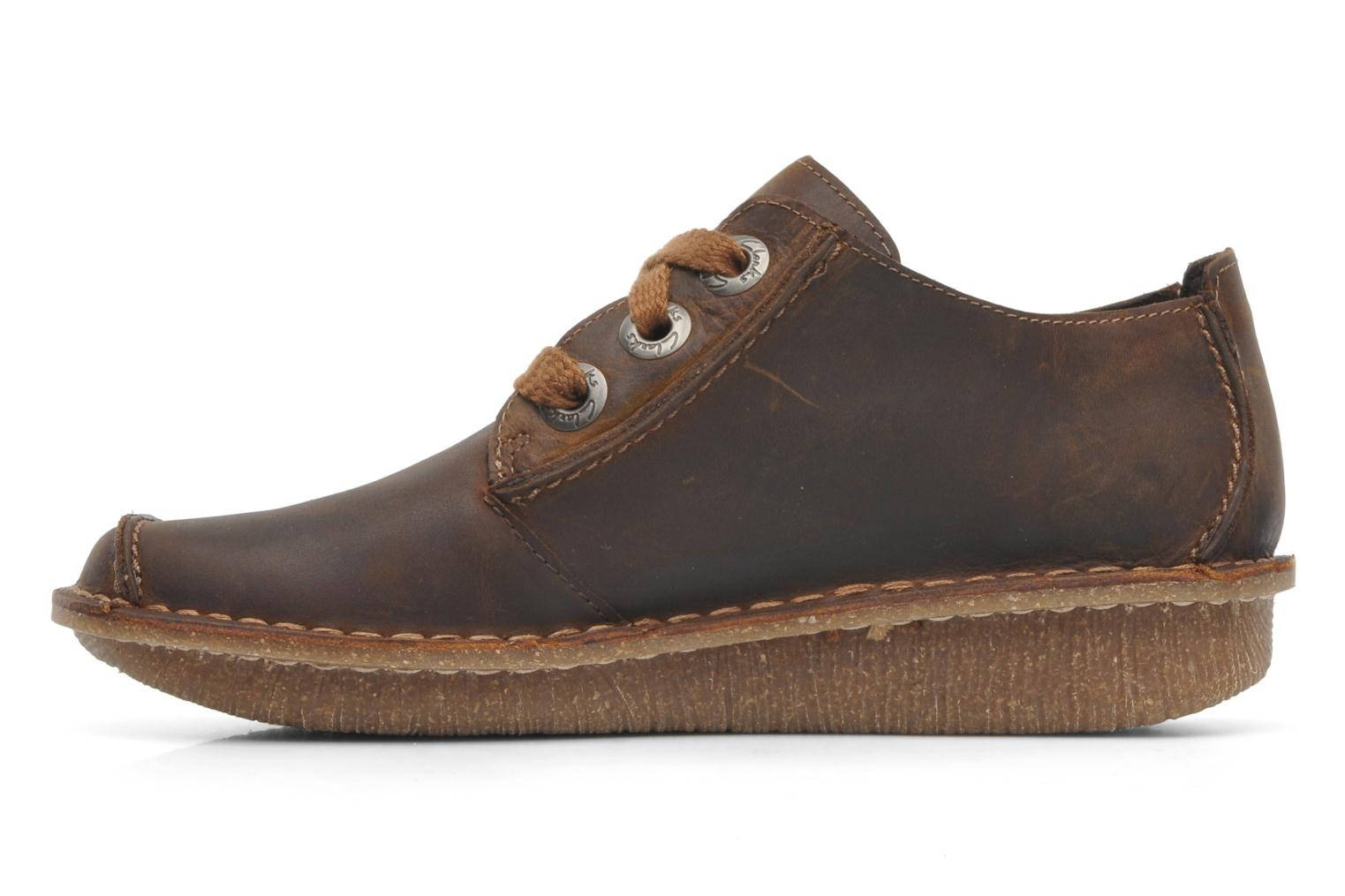 Lace-up shoes Clarks Funny Dream Brown front view