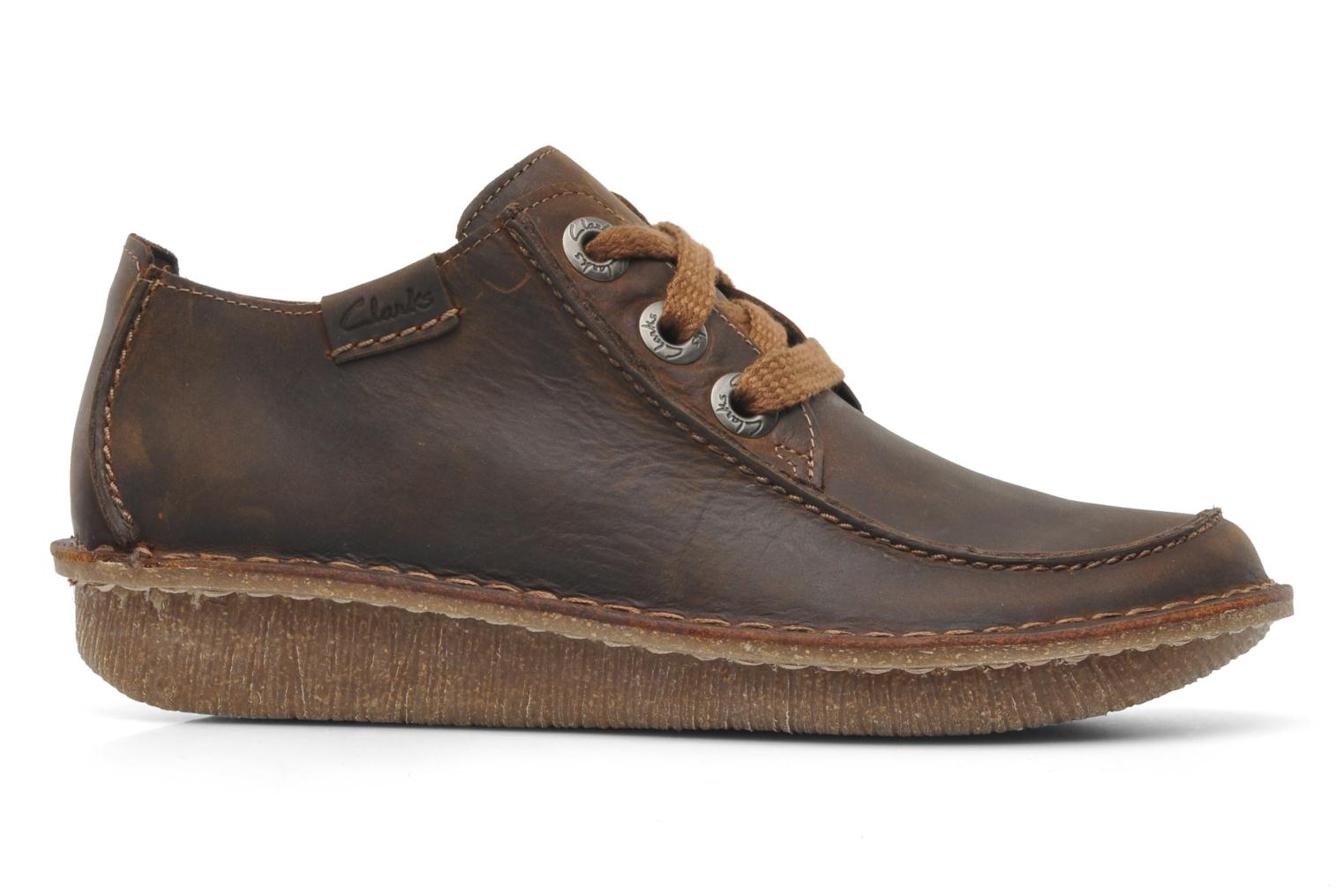 Lace-up shoes Clarks Funny Dream Brown back view