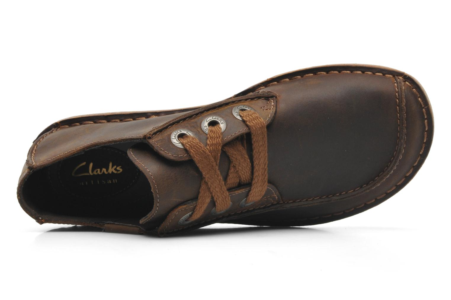 Lace-up shoes Clarks Funny Dream Brown view from the left