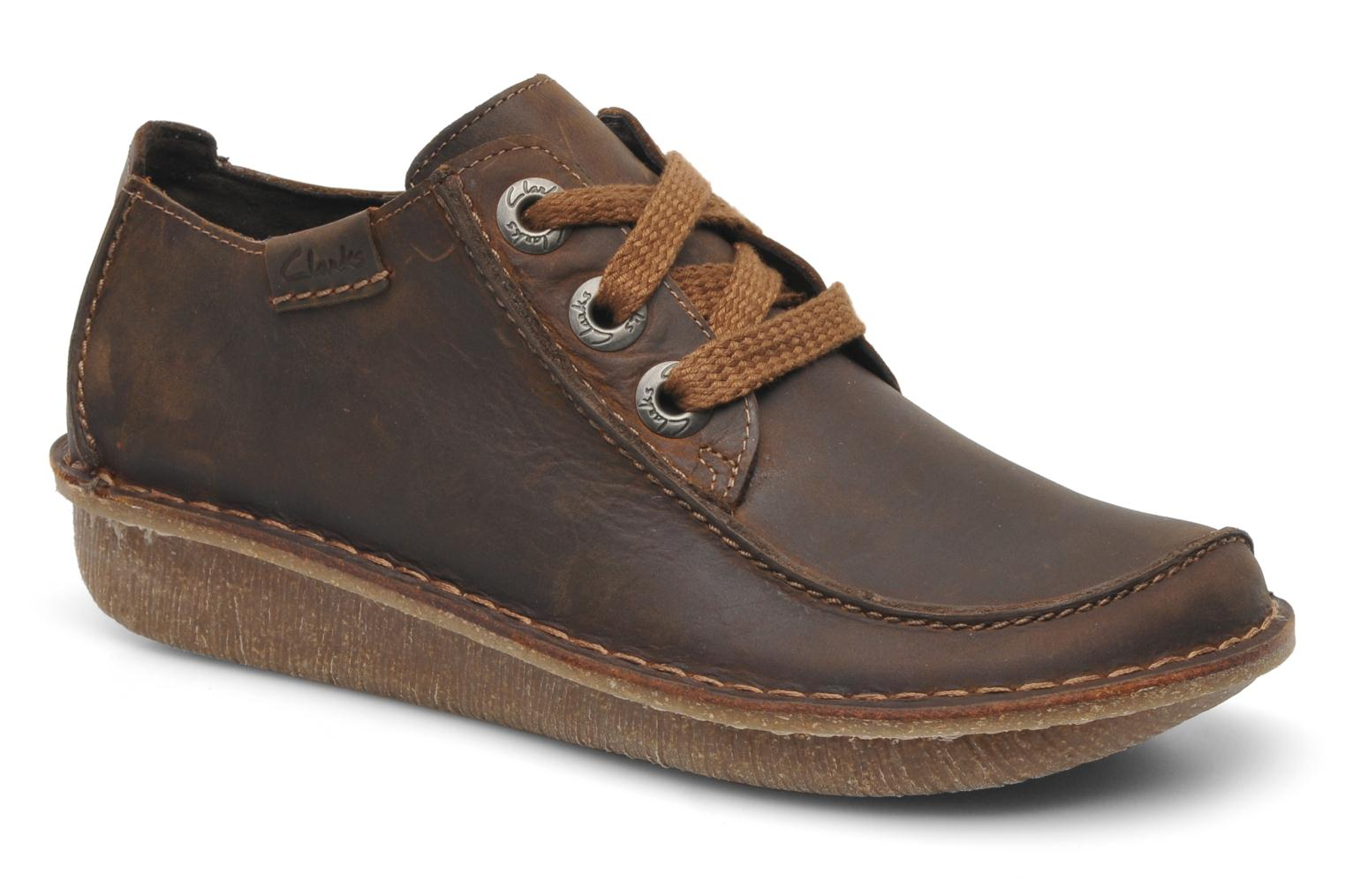Lace-up shoes Clarks Funny Dream Brown detailed view/ Pair view