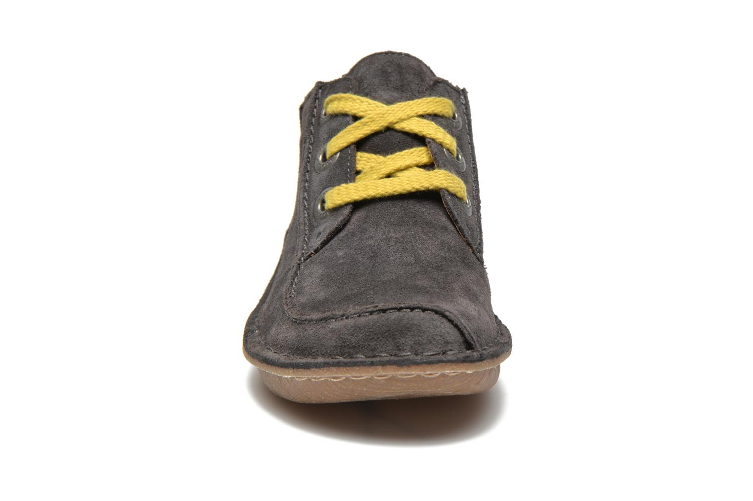 Lace-up shoes Clarks Funny Dream Grey model view