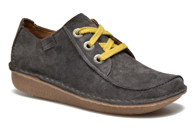 Snøresko Clarks Funny Dream Grå detaljeret billede af skoene