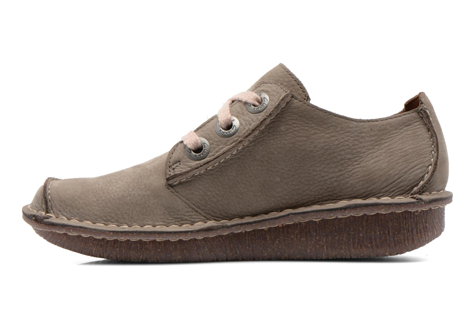 Lace-up shoes Clarks Funny Dream Grey front view