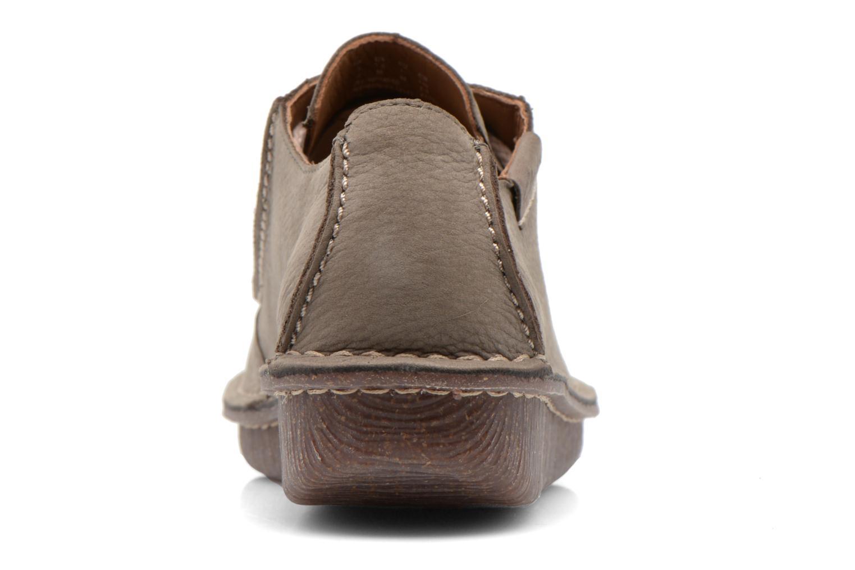 Zapatos con cordones Clarks Funny Dream Gris vista lateral derecha