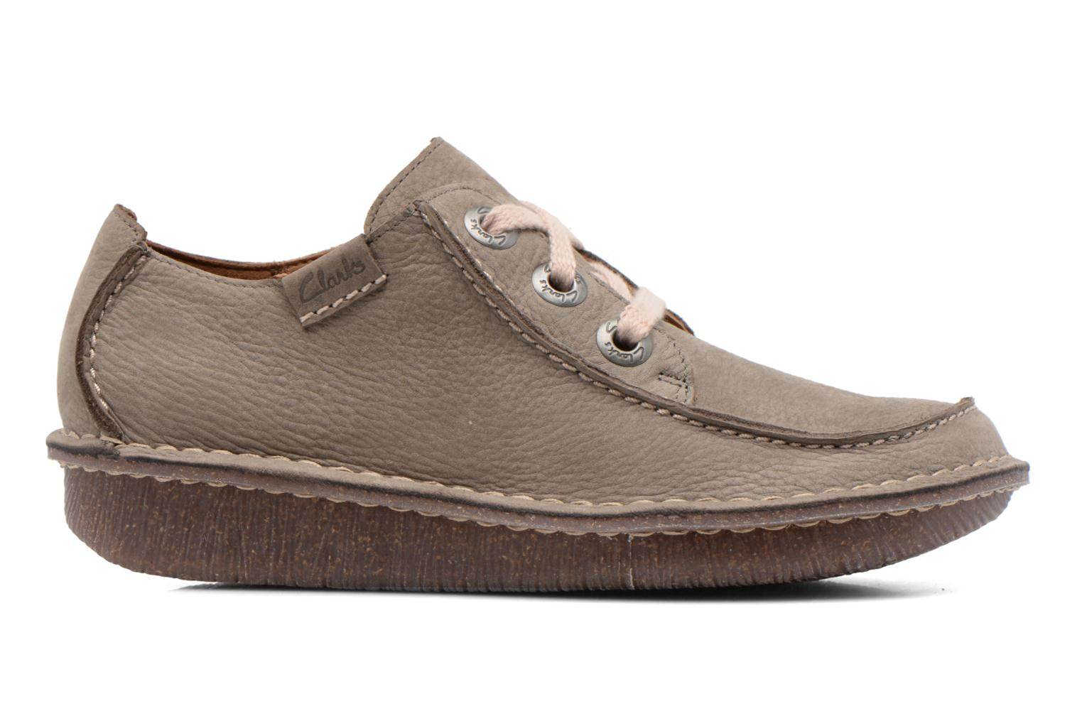 Lace-up shoes Clarks Funny Dream Grey back view