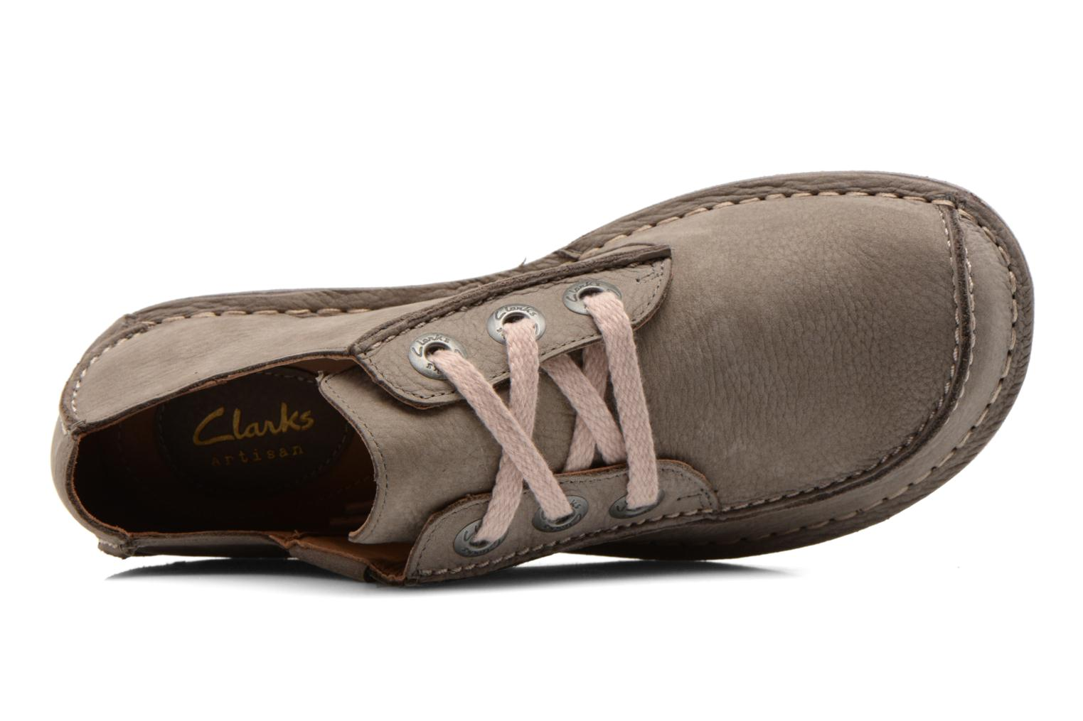 Lace-up shoes Clarks Funny Dream Grey view from the left