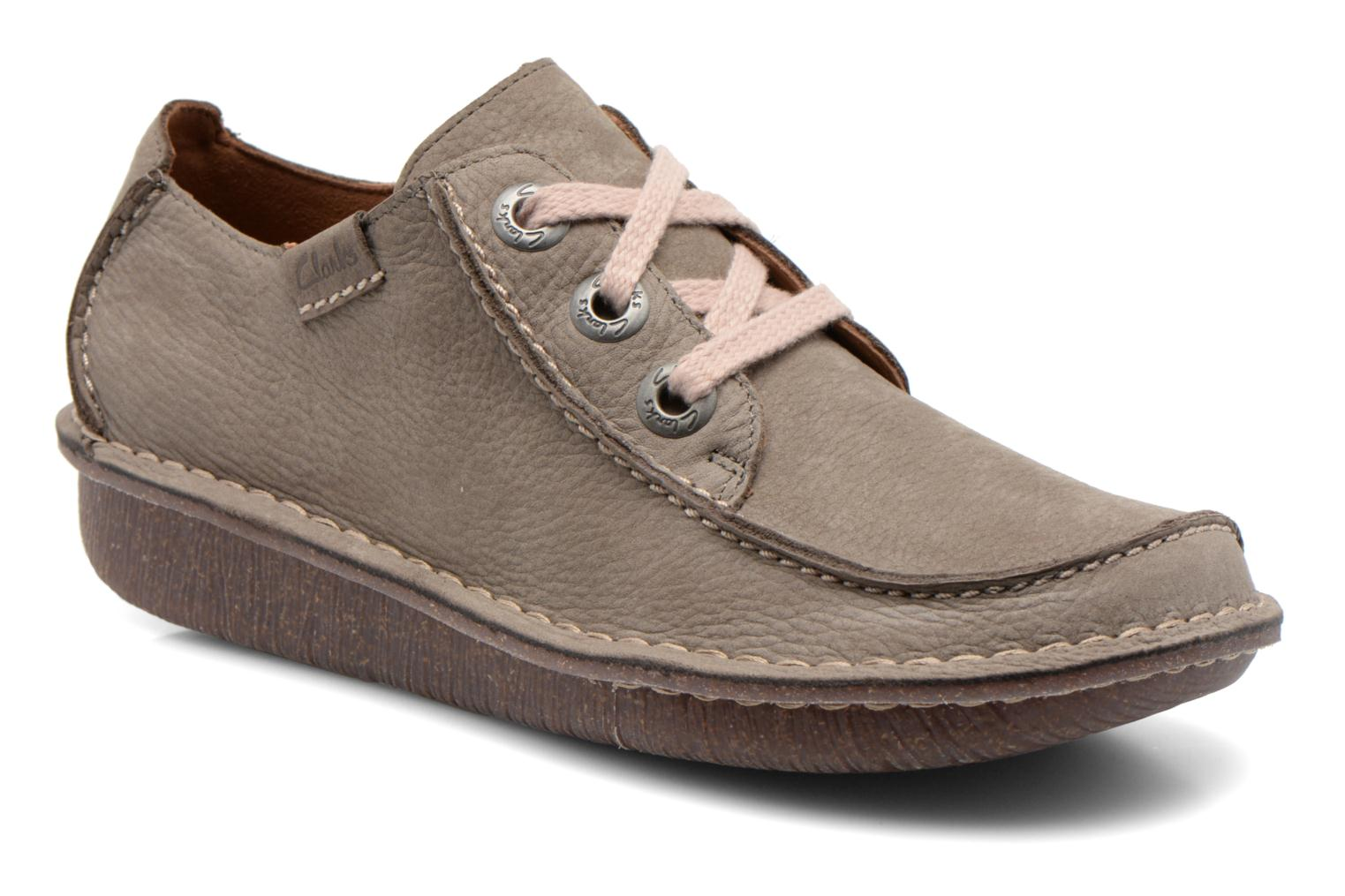 Lace-up shoes Clarks Funny Dream Grey detailed view/ Pair view