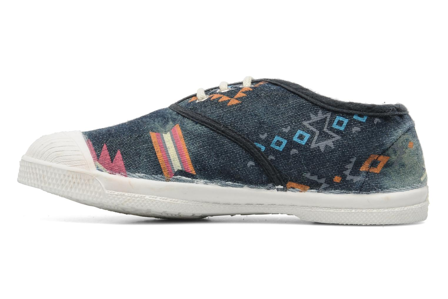 Baskets Bensimon Tennis Ethnique E Bleu vue face