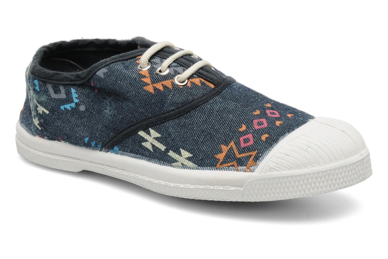 Sneakers Bensimon Tennis Ethnique E Blå detaljeret billede af skoene