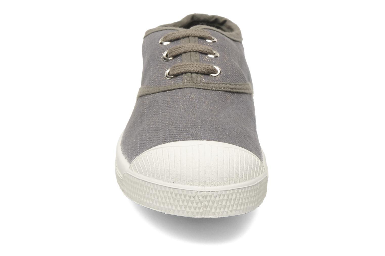 Sneaker Bensimon Tennis Glossy E grau schuhe getragen