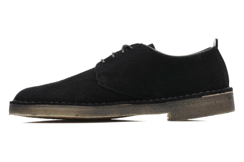 Lace-up shoes Clarks Originals Desert London Black front view