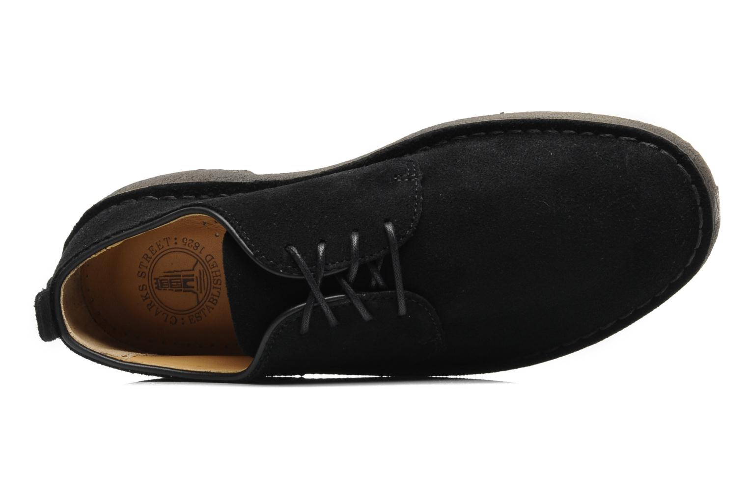 Zapatos con cordones Clarks Originals Desert London Negro vista lateral izquierda
